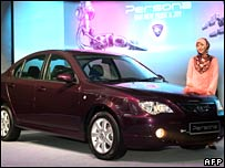 File pic: unveiling of the Proton Persona sedan near Kuala Lumpur in August 2007