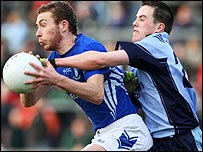 Sean O'Neill in action against Conor Garvey
