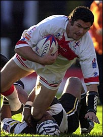 Andy Farrell captained England in the 2000 World Cup