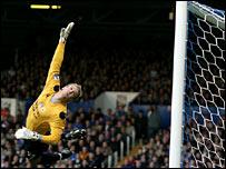 Man City goalkeeper Joe Hart was in fine form at Fratton Park