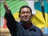 Hugo Chavez in Chile, 10 Nov