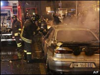Vehicle burned in Rome 1111