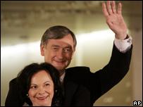 Danilo Tuerk and his wife Barbara, 11/11/07