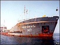 Танкер 'Волганефть-147' в Персидском заливе (фото 2000 года)