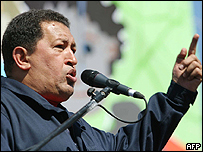 Hugo Ch�vez en la Cumbre de los Pueblos, este fin de semana en Santiago