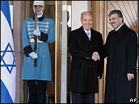 Shimon Peres with Turkish President Abdullah Gul
