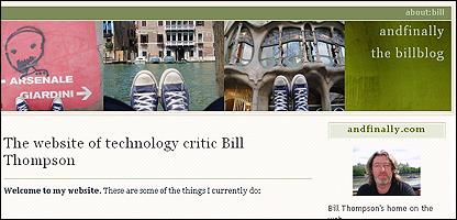Bill Thompson weblog
