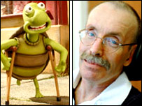 Tim the Tortoise and Ian Wilding