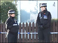 Police officers at scene