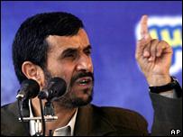 Mahmoud Ahmadinejad speaks at Tehran's Science and Technology University