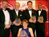 Steve Jones, John Disley, Tanni Grey Thompson, Lynn Davies and Colin Jackson