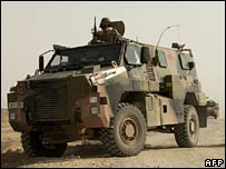 Australian Army Bushmaster Infantry Mobility Vehicle (IMV) on patrol at an undisclosed location in Iraq (June 2007)