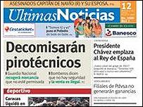 Portada de �ltimas Noticias