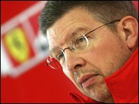 Ross Brawn during his spell at Ferrari