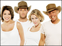 Gemma Atkinson, Jason 'J' Brown, Cerys Matthews and John Burton Race