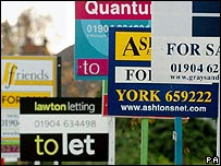 To Let and For Sale signs in York