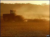 Tractor pulling a plough (Image: AP)