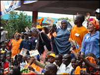 ODM supporters turn out for the launch of the 2007 election campaign