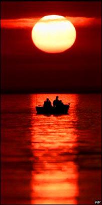 Sunset. Image: AP