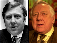 Lord Roy Hattersley in 1969 and 2002