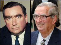 Lord Dennis Healey in 1968 and 2005