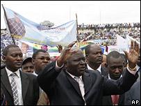 Kenyan President Mwai Kibaki in Oct 07