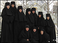 The nuns are from the Belarusian capital of Minsk
