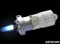 Artist's impression of ATV re-ignition