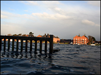 Flooding at Oulton Broad