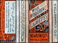 Outside of the cigarette packet