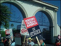 Pickets outside Paramount Pictures