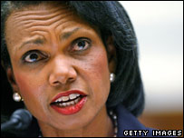 US Secretary of State Condoleeza Rice