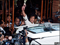 Imran Khan at Punjab University (14 November 2007)