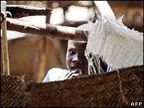 Boy in Darfur camp