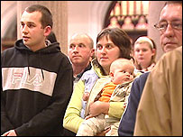 Prayers were said for the family during a church service