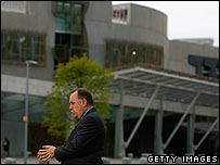 Scotland's First Minister Alex Salmond at Holyrood