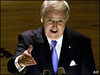 Former Canadian leader Brian Mulroney