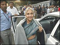 Delhi chief minister Shiela Dixit