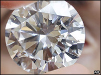 The 84.37-carat white diamond