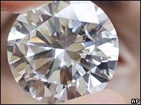 The 84.37-carat white diamond