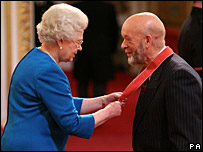 The Queen and Michael Eavis