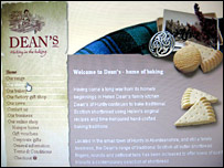 Dean's of Huntly website