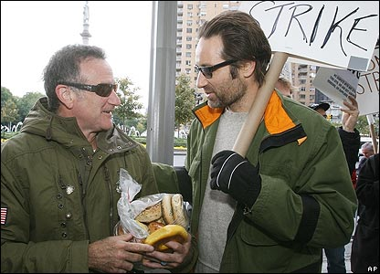 Robin Williams and David Duchovny