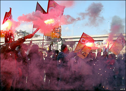 A demonstration in Nice, southern France, 14 November