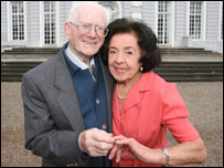 James Mason and Peggy Clark: Picture South West News Service