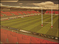 Artist's impression of new stadium at Pemberton