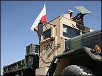Polish military vehicle in Afghanistan
