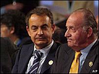 Jos� Luis Rodr�guez Zapatero y el rey Juan Carlos de Espa�a