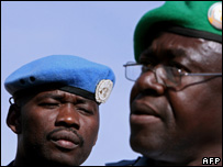 Members of the AU-UN mission in Sudan, 13 Nov 2007