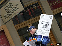 Broadway stagehands strike